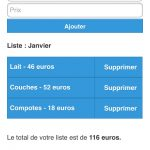 Quel budget pour mon bébé ? Une application iPhone et Android de Nicolas Kalogeropoulos