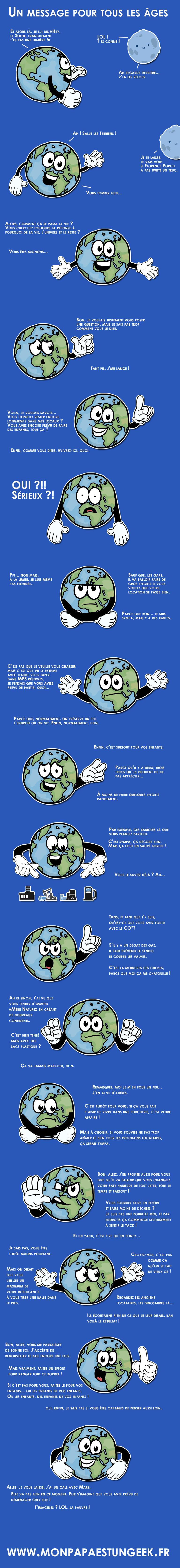 Arrêtez de polluer la Terre !