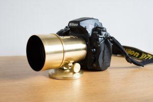 Le petzval monté sur un Nikon D700